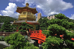 The Pavilion of Absolute Perfection in the Nan Lian Garden Stock Photography