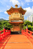 The Pavilion of Absolute Perfection in the Nan Lian Garden Stock Photo