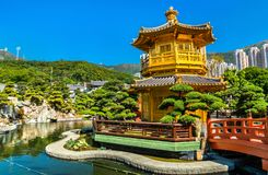 Pavilion of Absolute Perfection in Nan Lian Garden, Hong Kong. Pavilion of Absolute Perfection in Nan Lian Garden, a Chinese Classical Garden in Hong Kong, China Royalty Free Stock Photo