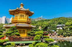 Pavilion of Absolute Perfection in Nan Lian Garden, Hong Kong. Pavilion of Absolute Perfection in Nan Lian Garden, a Chinese Classical Garden in Hong Kong, China Stock Photos