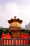 Pavilion of Absolute Perfection and Zi Wu Bridge. In Nan Lian Garden, Diamond Hill, Hong Kong Stock Image