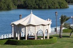 Pavilion in Abu Dhabi Royalty Free Stock Photo