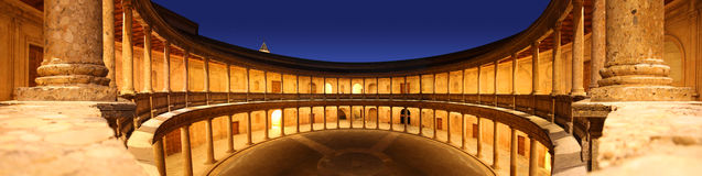 Pavilion in the Alhambra palace Royalty Free Stock Photos