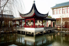 Pavilion And Lake Stock Images
