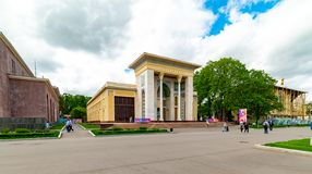 Pavilion `Azerbaijan` —  the fourteenth pavilion of VDNH, built in 1939, and reconstructed in 1967. City the Moscow .Pavilion `Azerbaijan` — the royalty free stock image