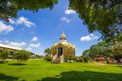 Pavilion (Bat Bo Holy Father money) Wat Yang Khoi Kluea at Phichit Thailand. Stock Images