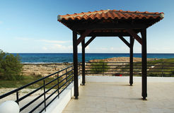 Pavilion on the beach Royalty Free Stock Photo