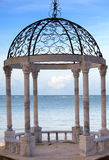 Pavilion on a beach. Royalty Free Stock Image