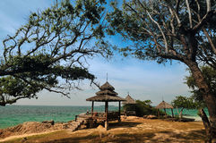 Pavilion on the beach at Mun Nok island Stock Images