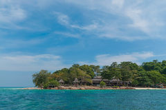 Pavilion on the beach at Mun Nok island Royalty Free Stock Photography