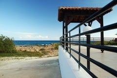Pavilion on the beach Pavilion Stock Images