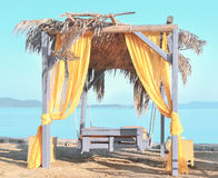 Summer dream. Summerhouse on the beach overlooking the sea Stock Photo