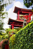 Pavilion in a Beautiful Garden at Monte above Funchal Madeira. This wonderful garden is at the top of the cablecar from the seafront in Funchal. It is filled Stock Photos
