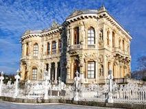 Pavilion on Bosporus. Imperial pavilion built by Sultan Abdulmecit. Kucuksu  - Istanbul Royalty Free Stock Image
