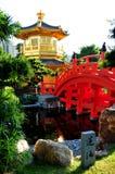 pavilion and bridge Stock Photography