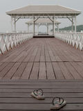 Pavilion bridge over the Water. With shoe Stock Image