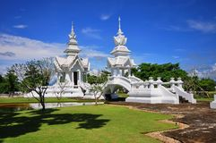 Pavilion and bridge of Wat Rong Khun temple Stock Photography
