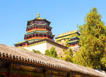 Pavilion of the Buddhist Incense of Summer Palace Stock Photos