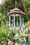Pavilion and cactus in Nikitsky Botanical Garden Royalty Free Stock Image