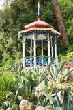 Pavilion and cactus in Nikitsky Botanical Garden Royalty Free Stock Image