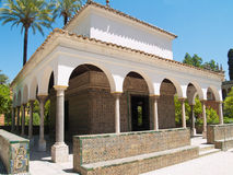 Pavilion of Carlos V, Seville. Pavilion of Carlos V, in gardens of Alcazar of Sevilla (built in 1360), Andaluz, Spain Royalty Free Stock Photo