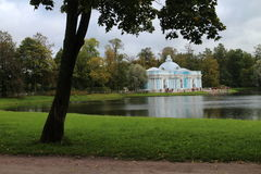 Pavilion `Cave` in english garden in Tsarskoye Selo. Russia Royalty Free Stock Photography
