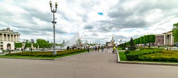 Pavilion `Central`-Built by 1954 according to the project of G. V. Shchuko and E. A. Stolyarov. In 1939 the Main pavilion was loca. City the Moscow .pavilion ` royalty free stock photo