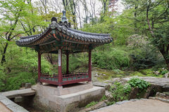 Pavilion at the Changdeokgung Palace`s Secret Garden Royalty Free Stock Photo