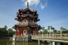 Pavilion of Chinese architecture in Taipei Stock Photo