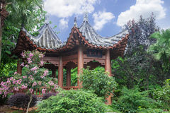 Pavilion in chinese garden Royalty Free Stock Image