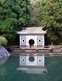 Pavilion in Chinese style on a lake Stock Image