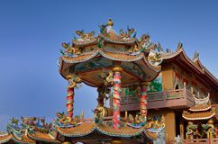 The pavilion of Chinese temple (shrine) Royalty Free Stock Photography