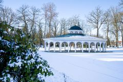 Pavilion of mineral water spring - Frantiskovy Lazne - Franzensbad - Czech Republic royalty free stock photography