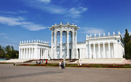 The pavilion Culture in the exhibition of achievements of national economy. Stock Image