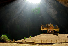 Pavilion in the deep cave Stock Photography
