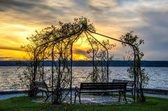 Pavilion at dusk Royalty Free Stock Photo