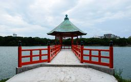 Pavilion in eastern style royalty free stock image