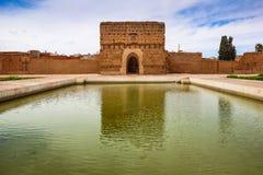Pavilion at El Badi palace.  Marrakesh . Morocco. Ruins of the Pavilion at El Badi palace.  Marrakesh . Morocco Royalty Free Stock Photography