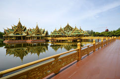 Pavilion of the Enlightened in Ancient city in Bangkok Stock Photography