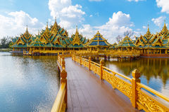 Pavilion of the Enlightened at Ancient Siam in Bangkok Royalty Free Stock Image