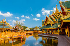 Pavilion of the Enlightened at Ancient Siam in Bangkok Royalty Free Stock Photo
