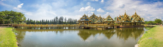 Pavilion of the Enlightened, Ancient Siam Stock Photo