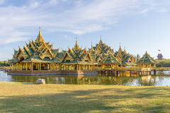 Pavilion of the Enlightened. In the Ancient Siam, is a park constructed under the patronage of Lek Viriyaphant and spreading over 0.81 km2 in the shape of Royalty Free Stock Images