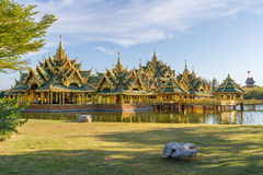 Pavilion of the Enlightened. In the Ancient Siam, is a park constructed under the patronage of Lek Viriyaphant and spreading over 0.81 km2 in the shape of Royalty Free Stock Photography