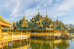 Pavilion of the Enlightened. In the Ancient Siam, is a park constructed under the patronage of Lek Viriyaphant and spreading over 0.81 km2 in the shape of Royalty Free Stock Image