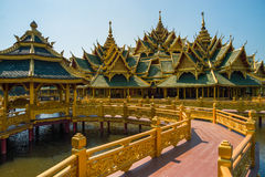 Pavilion of the Enlightened. Located in thailand Royalty Free Stock Images