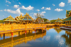 Pavilion of the Enlightened in Thailand. Pavilion of the Enlightened at Ancient Siam in  Thailand Royalty Free Stock Photography