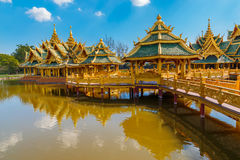 Pavilion of the Enlightened in Thailand. Architecture of Pavilion of the Enlightened in Thailand Stock Photos