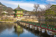 The Pavilion of Far-Reaching Fragrance in Gyeongbokgung Palace c Royalty Free Stock Photo