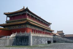 Pavilion at Forbidden City Stock Images